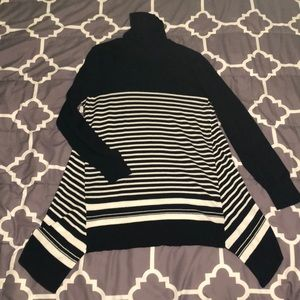 Apt. 9 Long Sleeve Striped Turtleneck Tunic